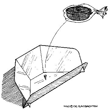 schéma du four solaire cookit, en noir et blanc
