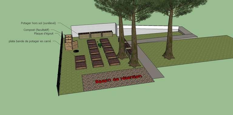 Design 3D petit jardin residentiel